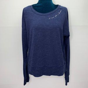 Gap Top Small It Was All A Dream Blue Long Sleeve